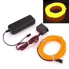 Jual 5 M Led Kawat El Fleksibel Glow Mobil Dekorasi Pesta Light Lamp W Ballast Cahaya Dingin Intl Aukey Original