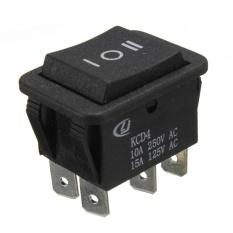 5pcs 6Pin Auto On/Off/On Momentary Power Window Rocker Switch AC 250V/10A 125V/15A