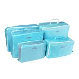 Diskon Produk 5 Pcs Packing Cube Pouch Travel Home Pakaian Koper Tas Penyimpanan Bagasi Organizer Bag Case Biru
