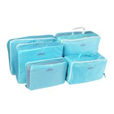 Harga 5 Pcs Packing Cube Pouch Travel Home Pakaian Koper Tas Penyimpanan Bagasi Organizer Bag Case Biru Termurah