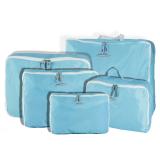 Spesifikasi 5 Buah Tas Penyimpanan Bagasi Perjalanan Penyelenggara Pakaian Tas Biru Oem Terbaru