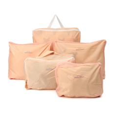 Jual 5 Buah Tas Penyimpanan Bagasi Perjalanan Pakaian Tas Serbi Penyelenggara Berwarna Merah Muda Online