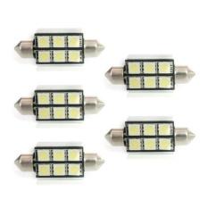5X39 Mm 6SMD 5050 Kubah Putih CANBUS Lampu Rangkai Kesalahan Mobil LED Lampu Pemancar-Intl