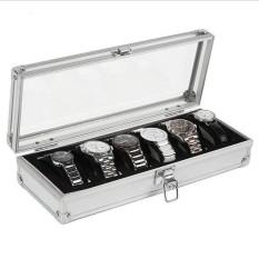 ... 6 Slot Kotak Perhiasan Jam Tangan Tampilan Penyimpanan Kotak Kasus Aluminium Jam Tangan Kotak Internasional