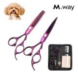 Spesifikasi 6 Inch M Way Pro Anjing Peliharaan Kucing Perawatan Rambut Cutting Thinning Gunting Gunting Kit Intl Yang Bagus Dan Murah
