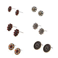 Harga 6 Pasang Vintage Zircon Floral Ear Stud Earring Lot Perhiasan Untuk Wanita Wanita Intl Yang Murah