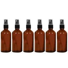 6 Buah 47 06 G 50 Ml Portabel Perjalanan Kaca Isi Ulang Botol Kosong Kabut Tipis Wadah Botol Semprot Parfum Minyak Esensial Perjalanan Wadah Semprotan Amber International Diskon Akhir Tahun