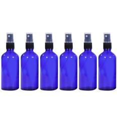 6 Buah 47 06G 50 Ml Botol Kosong Yang Dapat Diisi Ulang Perjalanan Portabel Kaca Botol Semprotan Kabut Halus Wadah Penyemprot Parfum Minyak Esensial Wisata Biru Vococal Murah Di Tiongkok
