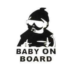 6 Buah Bayi Baru Di Papan Tulis Otomatis Jendela Truk Stiker Gaya Gaya Vinil Stiker For Review dan Berita Mobil Lucu Stiker Hitam -Internasional