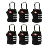 Harga 6 Pcs Travel Tsa Lock 3 Digit Combination Luggage Suitcase Lock Padlock Black Oem Ori