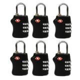 Jual 6 Pcs Travel Tsa Lock 3 Digit Combination Luggage Suitcase Lock Padlock Black Ori