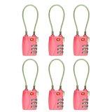 Jual 6 Pcs Tsa 3 Digit Resettable Kombinasi Kunci Gembok Koper Bagasi Perjalanan Warna Pink Baru