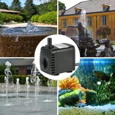 600L/H 8 W Submersible Pompa Air untuk Aquarium Meja Air Mancur Kolam Taman Air dan Sistem Hidroponik dengan 2 Nozel AC220-240V-Intl