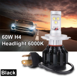 Jual 60 Watt H4 9003 Led Hitam Cahaya Lampu Mobil Di Hi Lo Balok Pentol Kit 6000 Kb Putih Ld784 Murah