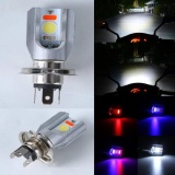 6500K H4 Motorcycle Cob Led Headlight Hi Lo Beam Front Light Bulb Lamp 3 Colors Intl Oem Murah Di Tiongkok