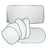 Toko 6 Pcs Lipat Perak Reflektif Jendela Mobil Sun Shade Visor Shield Cover Terlengkap Tiongkok