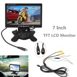 Beli 7 Inch 2Ch Hd 800 480 Tft Lcd Screen Headrest Video Monitor For Rear View Camera Auto Parking Backup Reverse Intl Yang Bagus