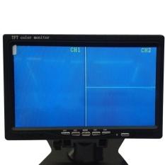 7 Inch HD TFT LCD Warna 4 Split Video 4-CH Input Car Rear View Monitor Screen-Intl