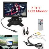 Harga 7 Inch Tft Lcd Warna 2 Masukan Video Rear View Headrest Dvd Vcr Monitor Asli