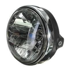 7?? Motor Bike Round Headlight Halogen H4 Bohlam Lampu Kepala Sisi Mount Style