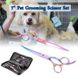 Jual 17 78 Cm Profesional Pet Anjing Kucing Dandan Gunting Memotong Lengkung Penjarangan Geser Ditetapkan Os661 Xcsource Asli