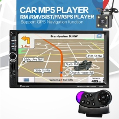 Diskon 7020G 7 Inch 2 Din Bluetooth Auto Multimedia Mobil Stereo Mp5 Player Gps Navigasi Dengan Rear View Camera Steering Wheel Control Intl Oem Tiongkok