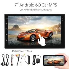 7'' HD Android Car MP3 MP5 Player 2Din 4G TPMS GPS OBD WIFI Bluetooth FM Radio
