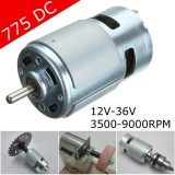 Review 775 Dc 12V 24V 3500 9000Rpm Motor Ball Bearing Large Torque High Power Low Noise Intl Di Tiongkok