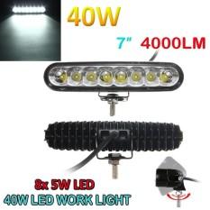 7 Inch 40 W Chip LED Cree Titik Banjir Combo untuk Kendaraan Lampu LED Berkendara Batang Lampu Kerja Offroad Mobil 4WD Ellip Beam 4000LM-Intl