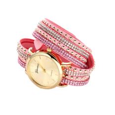 8 Warna Mewah Casua Jam Tangan Wanita dengan Tali Pink
