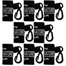 8 Pack Lip Balm Holder by Naturistick - Clip-On Convenient Holster for Key Chains, Purses, Backpacks, and Ski Jackets - Durable Weather-Proof Neoprene Sleeves - Pure by Nature Print - Made in USA - intl