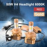 Toko 80 Watt H4 9003 Led Emas Cahaya Lampu Mobil Di Hi Lo Balok Pentol Kit 6000 Kb Putih Ld789 Online