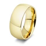 Spesifikasi 8Mm Berlapis Emas Klasik Tinggi Dipol Halus Anillos Cincin Perhiasan Cincin For Pria And Wanita Dan Harganya