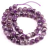 Jual Beli 8Mm Bulat Alami Amethyst Batu Permata Manik Manik Strand 15 Membuat Perhiasan Manik Manik Baru Tiongkok