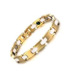 8 Mm Tungsten Steel + Keramik Gelang Kesehatan Magnetik Emas Pria Wanita Gelang & Perhiasan Gelang