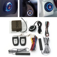 8x Car alarm mulai keamanan sistem kunci pasif Keyless Entry Push Button Remote