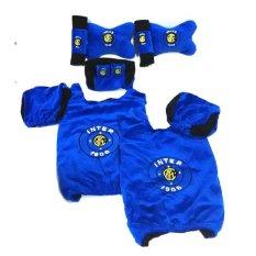 Katalog 9 In 1 Bantal Mobil Inter Milan Biru Sarung Seat Belt Tempat Tissue Kepala Leher Universal Terbaru