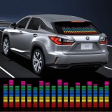 Jual 90 25Cm Car Music Rhythm Led Decoration Flash Light Music Activated Equalizer Voice Sound Control Music Lamp Car Styling Sticker Tiongkok