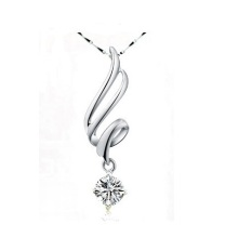 Beli 925 Lady Sterling Silver Kalung Silver Pendant Murah