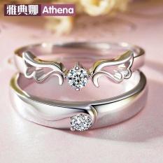 925 Pure Silver Pecinta Cincin Pembukaan, Korea Fashion Wings Fashion untuk Perak Murni Hari Valentine Hadiah Grosir-Intl