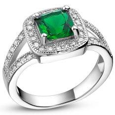 Harga 925 Silver Perhiasan Modis Gaya Baru Set Auger Ring Lengkap