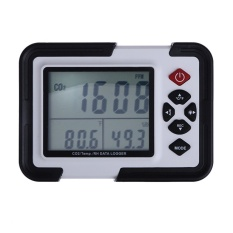 9999Ppm Carbon Dioxide Co2 Monitor Detector Air Temperaturehumiditylogger Black Intl Diskon Akhir Tahun