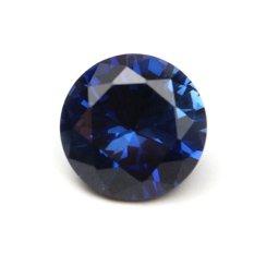 9mm 3.52ct Round Blue Safir Batu Permata Longgar Aluminium Oksida Buatan-Intl