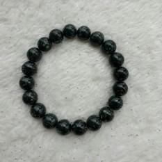 Diskon A Kha Gelang Kesehatan Black Jade 10Mm Ukuran M 100 Batu Alam A Kha North Sumatra