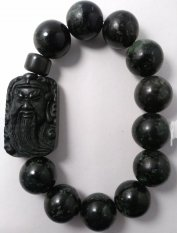 Harga A Kha Gelang Kesehatan Black Jade 14Mm Plus Liontin Kwan Kong Lengkap