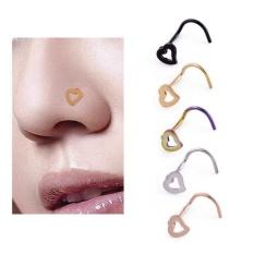 Sepasang Paduan Cinta Jantung Hidung Manik-manik Cincin Hidung Telinga Manik-manik Wanita Perhiasan-Internasional