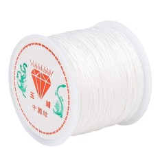 AC 0.8mm Nylon-Cord Thread Chinese Knot Macrame Rattail Bracelet Braided String 45M - intl