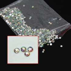 AC 1000X14 Facets Resin Rhinestone Gem Flat Kembali Crystal AB Beads 2mm 3mm 4mm DIY -Intl