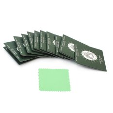 AC 12 Pcs Silver Polishing Cloth Cleaner Pembersih Perhiasan Anti-noda 70x70mm-Intl