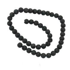 AC 1X8.5mm Lava Rock Desain Bulat Longgar Spacer Beads Strand Gelang Kalung Membuat-Intl